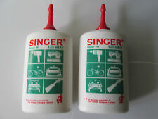 2 x SINGER DOMESTIC FINE SEWING MACHINE OIL SUITABLE FOR ALL MAKES WITH OILER