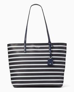 New Kate Spade Janie Medium Tote handbag Leather Night Cap / Rainy Day