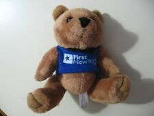 "5"" plush bean bag Teddy Bear, w/First New York FCU shirt, good condition"