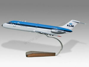 McDonnell Douglas DC-9 KLM Solid Mahogany Wood Handcrafted Desktop Display Model