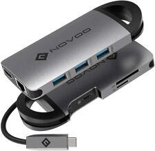 USB C Hub HDMI Type-C Adapter, Ethernet Dongle, USB C to 4K HDMI, 3 USB