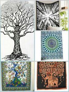 5pics Lot Indian Mandala Wall Hanging Tapestry Poster Hippie Art Wholesale Bulk