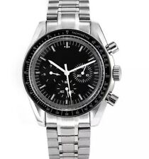 Mens Speed Chronograph Homage Watch Parnis moon SS luxury vintage Automatic