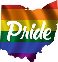 "Ohio State Pride Flag - 3.5"" x 3.75"" Vinyl Decal Sticker ebn-sp1711"
