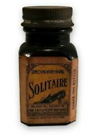 1920's SHOE POLISH BOTTLE FURMOTO SOLITAIRE ENGLAND RARE ANTIQUE