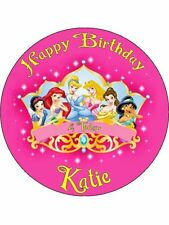 "Disney Princess 7.5"" Rice Paper Birthday Cake Topper"