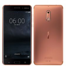 "Nokia 6 Dual SIM 64GB Copper 5.5"" 4GB RAM 16MP Phone By FedEx CN FREESHIP"