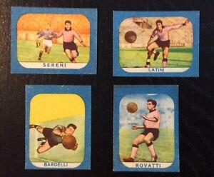 1959 Lotto 4 figurine Palermo Sampdoria Cicogna bordo azzurro calciatori mai app