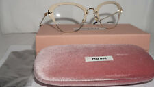 MIU MIU RX Eyeglasses New Matte Ivory MU 53OV UFZ1O1 50 24 140