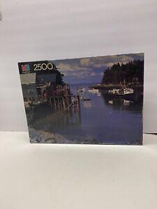 Milton Bradley Puzzle 2500 Pieces - New Harbor, Maine #4870-19 - Sealed!!!