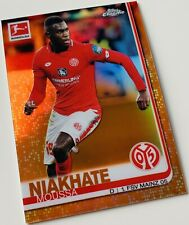 2019-20 Topps Bundesliga Chrome Orange Refractor Moussa Niakhate #/25 Mainz 05