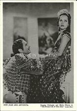 MERLE OBERON DOUGLAS FAIRBANKS ORIG DON JUAN UK ISSUED PORTRAIT PREMIUM