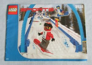 LEGO SNOWBOARD BOARDER CROSS RACE INSTRUCTION BOOK MANUAL ONLY FOR SET 3538