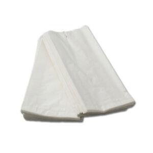 1000 Faltenbeutel, weiß, 12x5x25cm, 1,0kg, 418, Bäckerbeutel, Kiosk