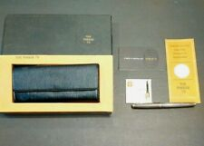Early Flat Top Sterling Silver Parker 75 Fountain Pen & Box Paperwork extra Nib
