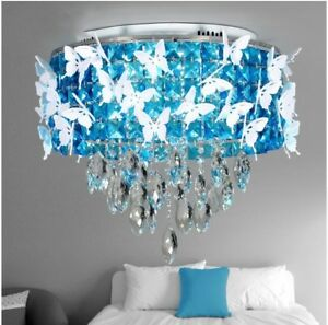 Crystal LED light modern bedroom restaurant butterfly ceiling lamp chandelier