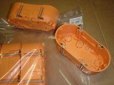 10 Stück HW-Doppelgerätedose / Hohlwanddosen / Schalterdose 2fach 2x 68mm x 47mm