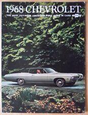 CHEVROLET 1968 Big Car Range orig USA Mkt prestige brochure - Impala SS Biscayne