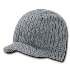 Heather Gray Campus Visor Jeep Skull Knit Ski Winter Grey Beanie Beanies Cap Hat