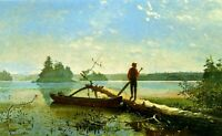 Explore the New York Hudson River Valley by Canoe Vintage Poster Repro FREE S//H