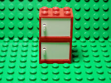 LEGO Set of 2 New Red Container Cupboard White Door 2x3x2 2013 5-12 Boys & Girls