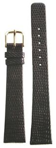 19mm or 3/4 Inch Kreisler Genuine Lizard Dark Brown Mens Watch Strap