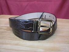 """$875 NWT Dolce & Gabbana Genuine Ostrich Leather Belt sz 100 cm / 39.5"""" -Italy"""