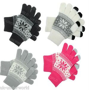 Knitted Gloves Adult Fairisle Sport Football Gift Idea Manchester City F.C