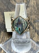 Barse Monarch Ring- Abalone & Bronze- 8-New With Tags