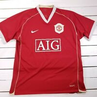 Nike Manchester United FC Soccer Football Jersey Home Mens XL 2006-2007 T139