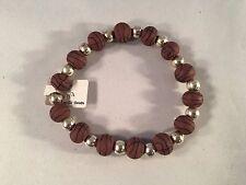 Viva Beads Stretch Clay Beads Bracelet Basketball 41083