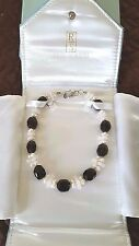 "ROSS SIMONS Smokey Quartz, Pearl, Rose Quartz, Sterling Silver 16"" Necklace NEW"
