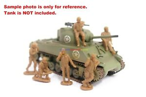 6PCs Orion 1/72 US Army Men Figures American Tank Crew WWII Toy Soldier Set 4