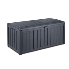 XL 390L Keter Outdoor Garden Weatherproof Storage Deck Pool Box Chest UV Stable