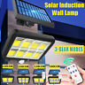 160 LED Solar Lights PIR Motion Sensor Wall Lamp Floodlight W/Remote Outdoor Kit