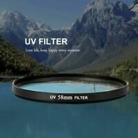 58mm UV Filter Ultra-Violet Lens Protector For Nikon Canon Sony Pentax Camera UK