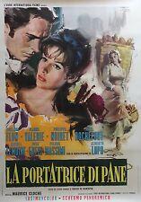 """""""LA PORTEUSE DE PAIN"""" Affiche originale italienne entoilée (Maurice CLOCHE) 1963"""