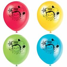 CURIOUS GEORGE PARTY Balloons 8 Helium Quality Latex Balloons FREE U.S. Ship