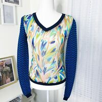 Missoni For Target Mixed Media V-Neck Sweater Long Sleeve Top Women's Size XS