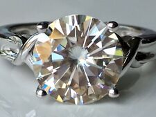 Moissanite Fire 3.60ct Diamond Equivalent Weight Round Platineve Solitaire Ring