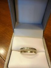 Antique Estate ART DECO Carved 18k Diamond Wedding Anniversary Band Ring(422)