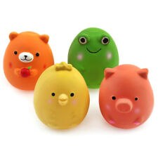 """4 Pack 2.4"""" Small Squeaky Dog Toys Bouncy Egg Ball Interactive Fetch Puppy Play"""
