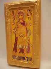 Saint Mercury Mercurius Agios Merkourios Rare Greek Orthodox Icon Ancestry Art