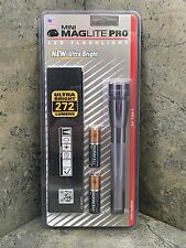 New Mini Maglite PRO LED Flashlight 2 AA Gray SP2P09H - 272 Lumens