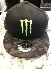 NEW Monster Energy New Era 9fifty Snapback Trucker Hat. Athlete Exclusive. Rare
