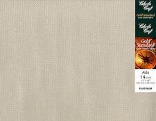 "Charles Craft Platinum 14 Ct Aida XStitch Fabric Cloth 15"" x 18"" #GD-1436-5614"