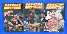 HIGH ADVENTURE #87,90,92 NM Detective Mysteries ADV HOUSE Pulp Reprint