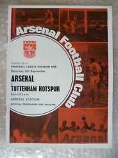 1970-71 Arsenal v Tottenham Hotspur, 5 Sept (League Division One) with Voucher