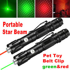 2Pc 900Miles Star Beam Green+Red Laser Pointer Pen Astronomy Lazer 650nm/532nm