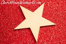 25 qty 2 inch Star Wood Christmas Embellishments Crafts Ornaments Decor DIY